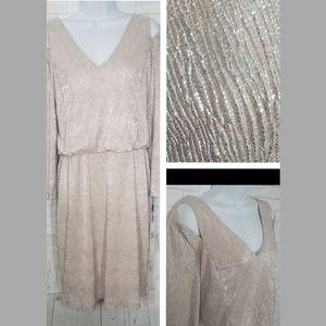 Calvin Klien Nude Shimmer Cocktail Dress